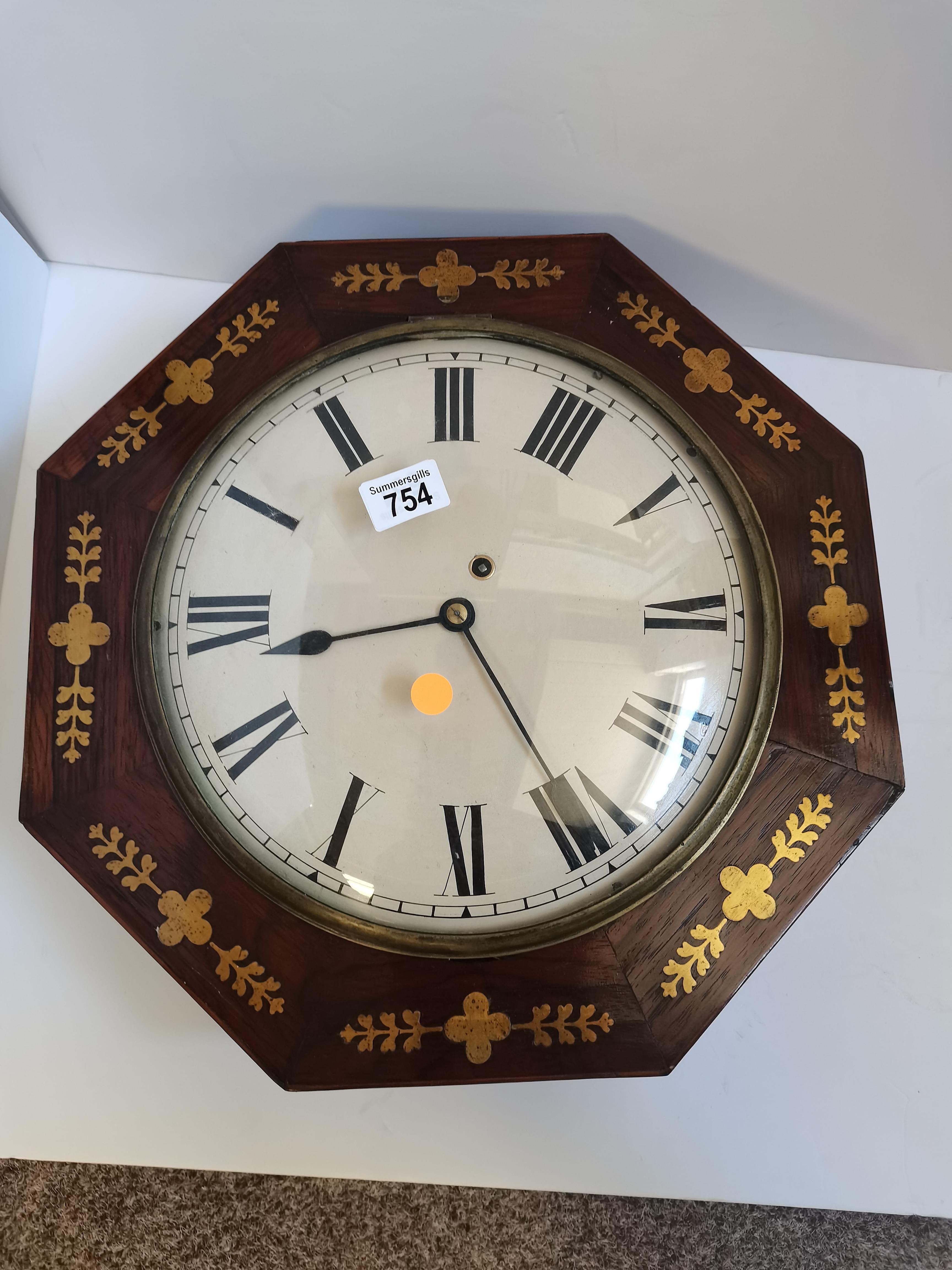 Regency Wall Clock - Image 3 of 6