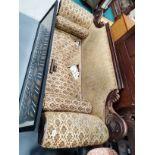 Antique mahogany settee
