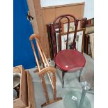 Bentwood chair and towel rail