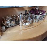 Large collection of plated ware