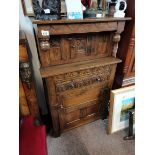 75cm small oak court cupboard in the Tichmarch and Goodwin style