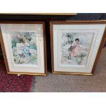Pair of large Glenda King ltd edt prints