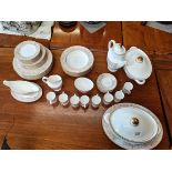 Royal doulton Soverign gold and cream dinner and coffee set ex con.