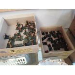2 Boxes of soldiers on bases (Plastic)