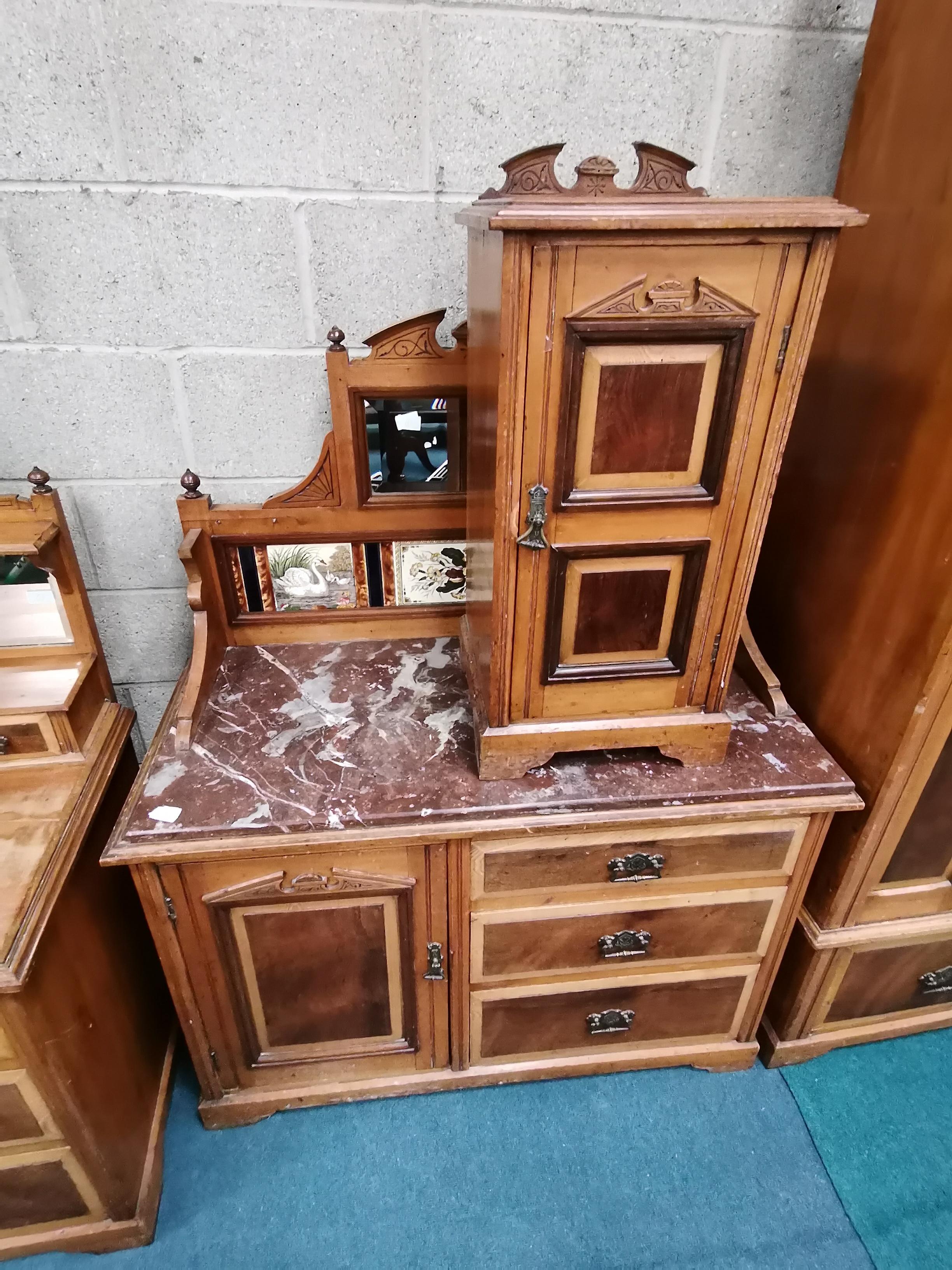4 piece Antique bedroom suite - Image 2 of 3