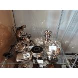 Collection of silver and silver plated items