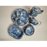 A Large Collection Of Copeland Spode Blue and White Crockery