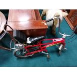 CHOPPER bike Mark 3 in red used condition but good