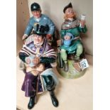 3 Royal Doulton Figures Robin Hood HN2773, The Coachman HN2282 and The Huntsman HN2492