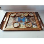 Butterfly tray and coasters