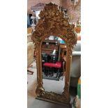 Antique gilt wall mirror 1.7m high