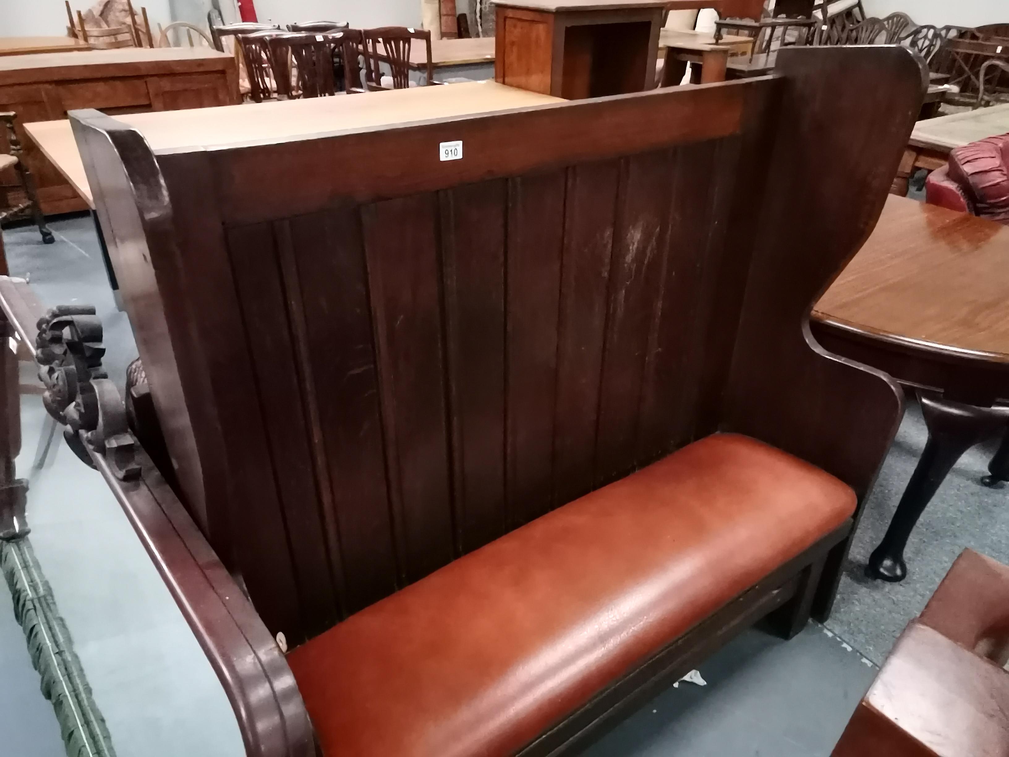 1.3m oak pub style bench and clothes hanger