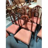 6 x chipendale dining chairs