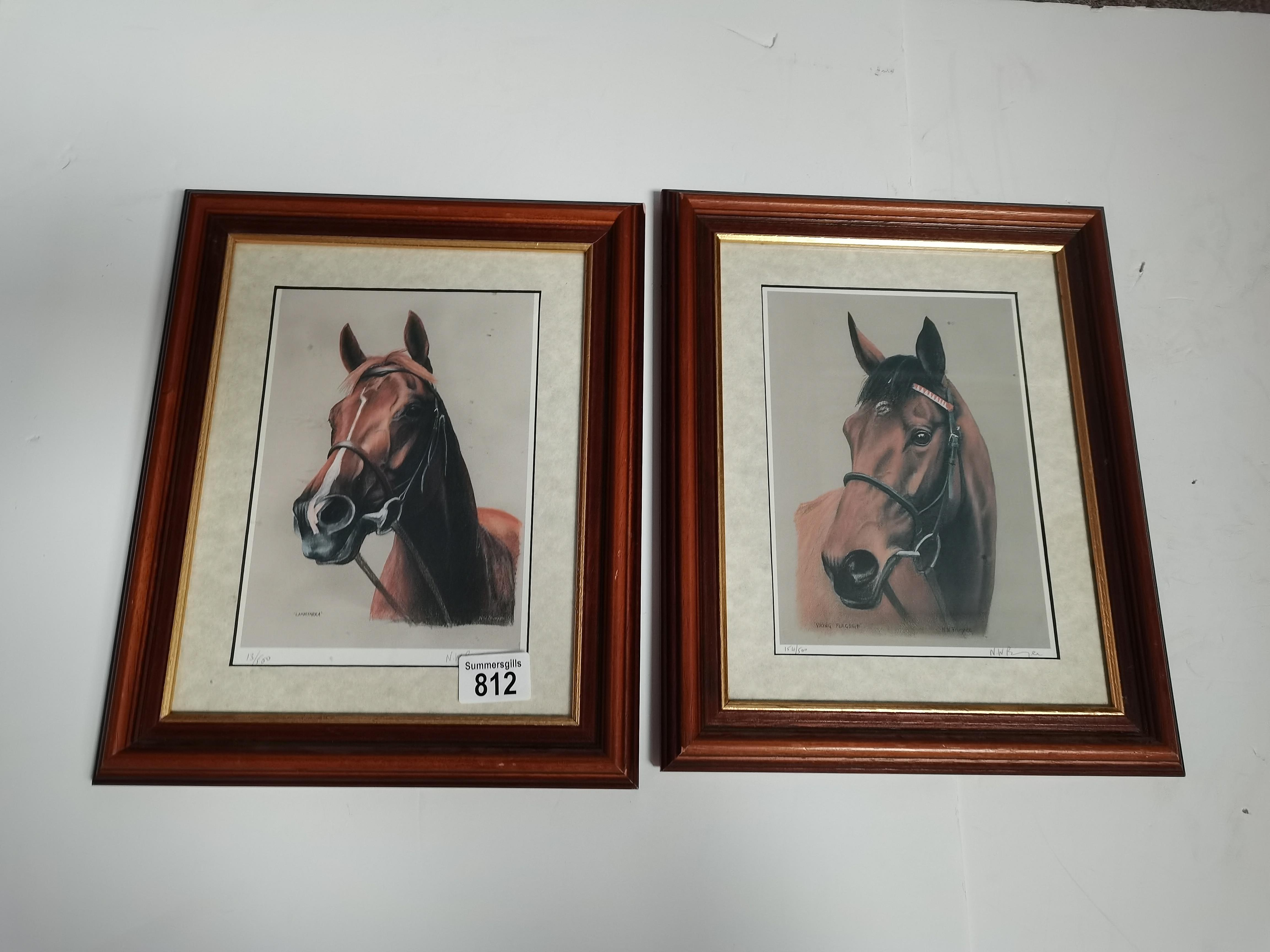 """4 Small Paintings of Horses by """"NW Brunyee"""", 1 Print of Nginsky 1 John Austin Print 2 other Pictures - Image 8 of 8"""