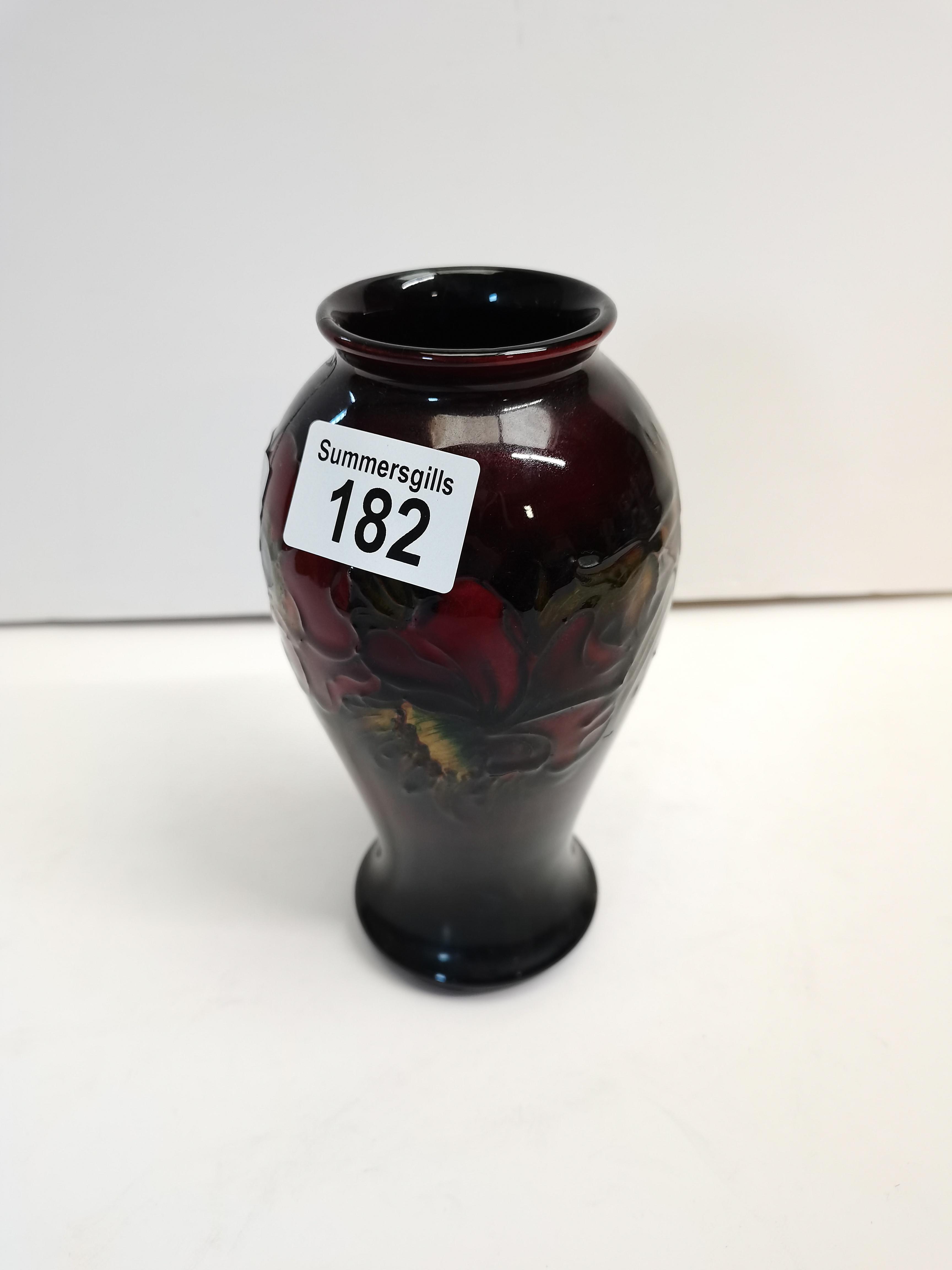 Moorcroft Flambe Poppy Vase A/F 18cm A/F