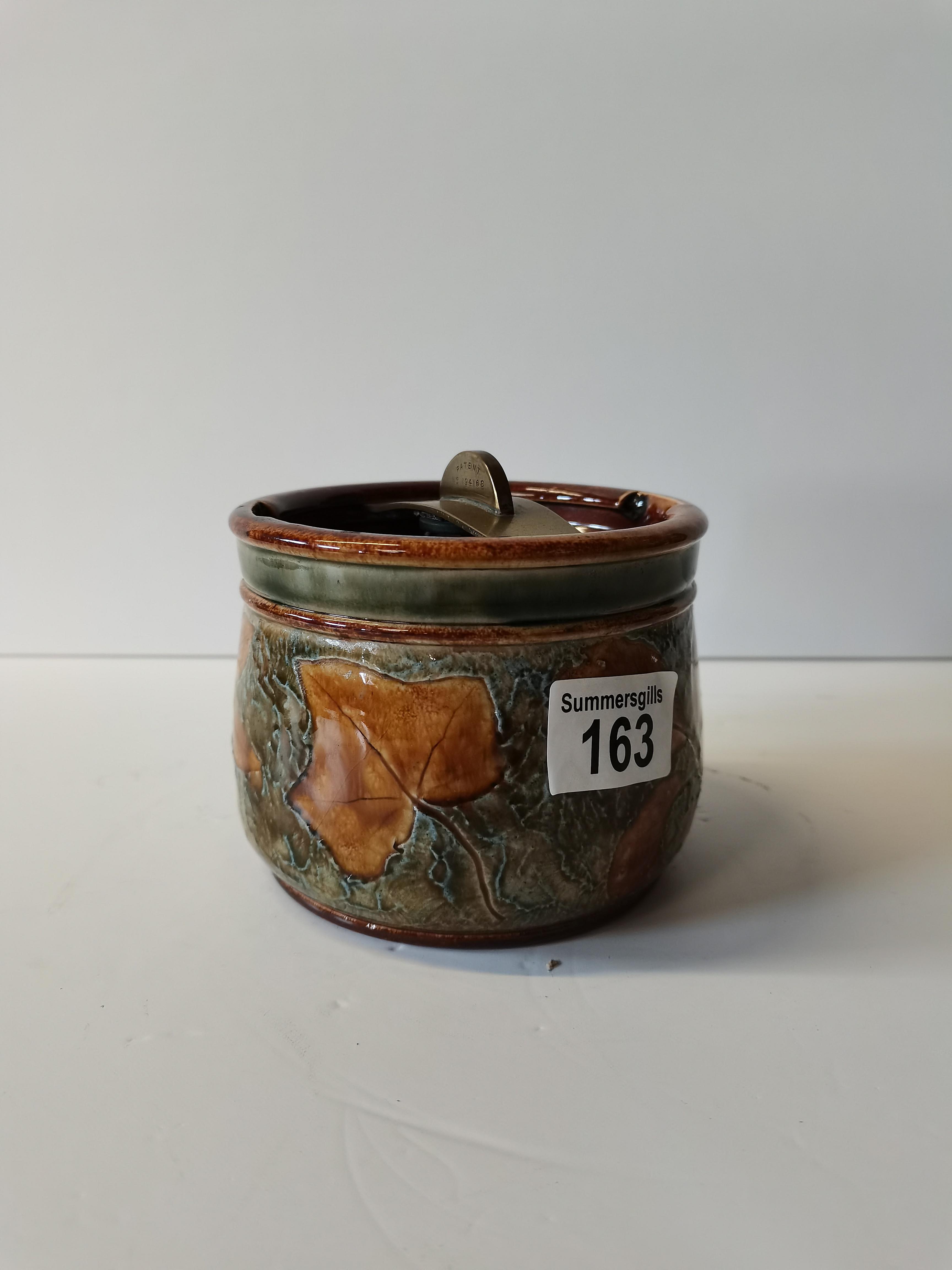 Doulton leaf decoration tobaco jar