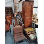Retro chrome chair, wardrobe rocking chair etc