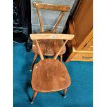 2 x Ercol dining chairs