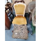 Antique chair , music stool and bedroom chair