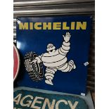 """Large Square Metal Michelin"""" Tyre Sign"""