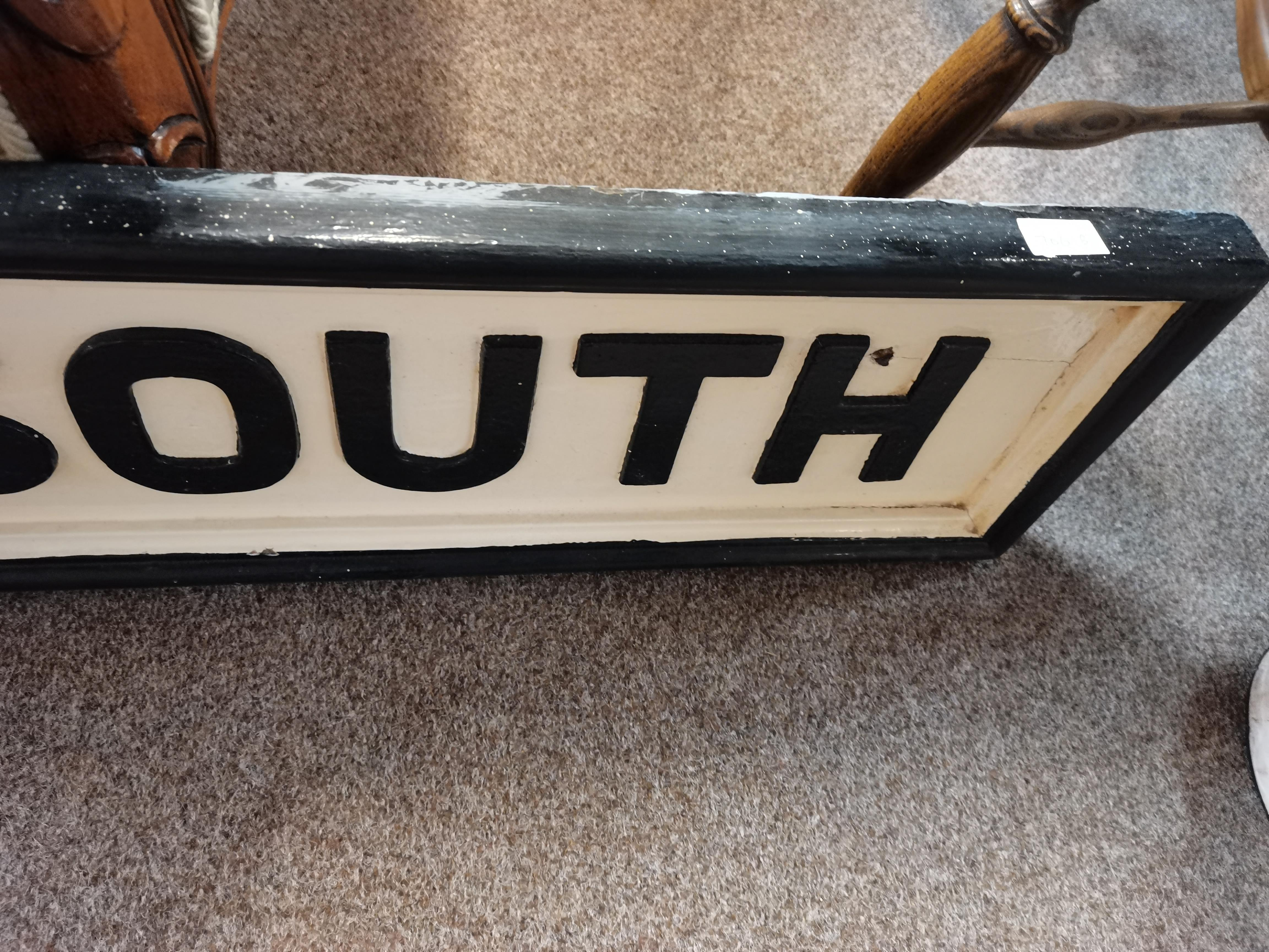 A pair of original Station name plates in wood from SELBY NORTH YORKSHIRE SELBY NORTH and SELBY - Image 3 of 3