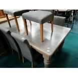 Painted grey dining table
