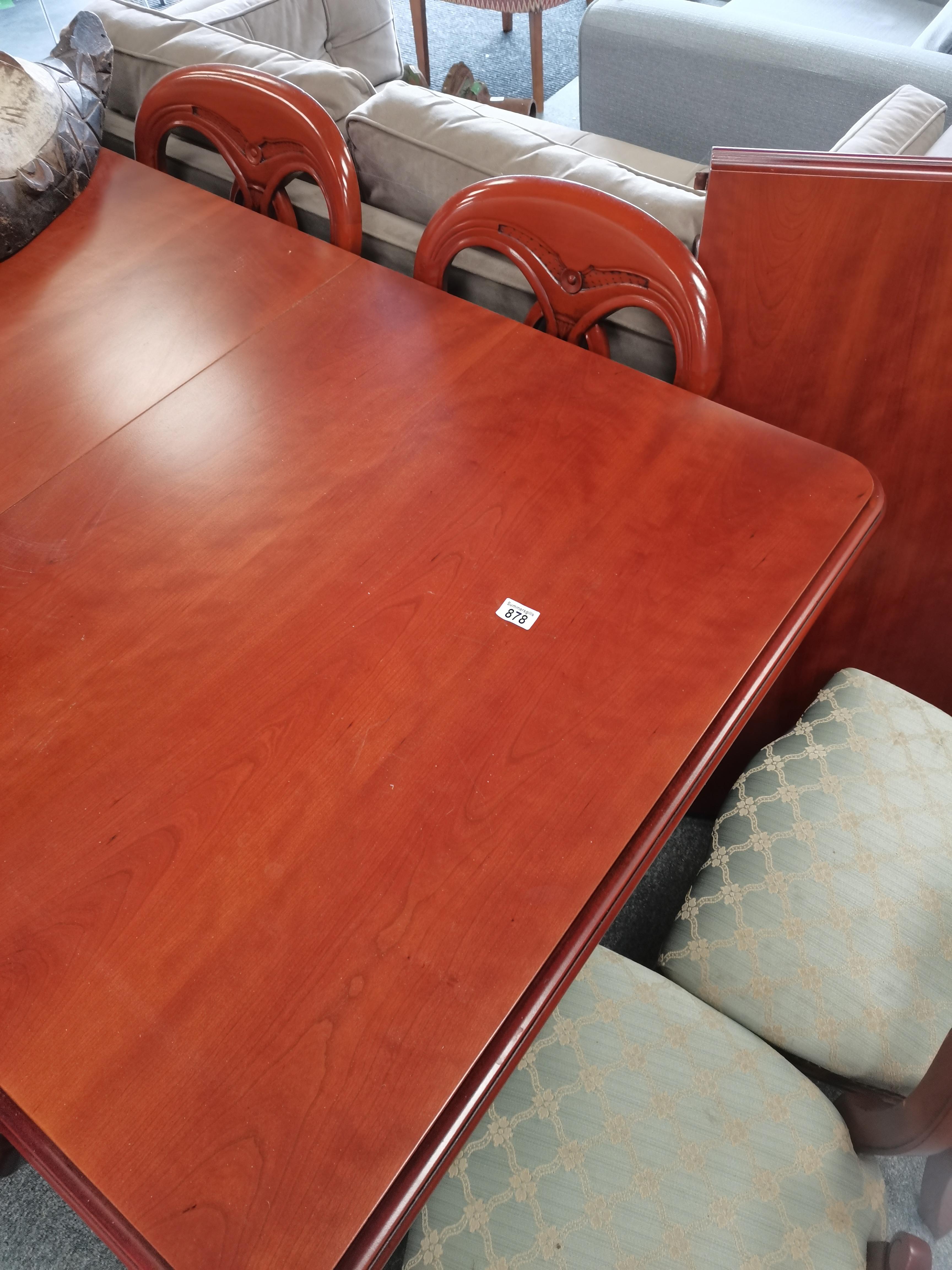 Mahogany dining table and 6 baloon back chairs