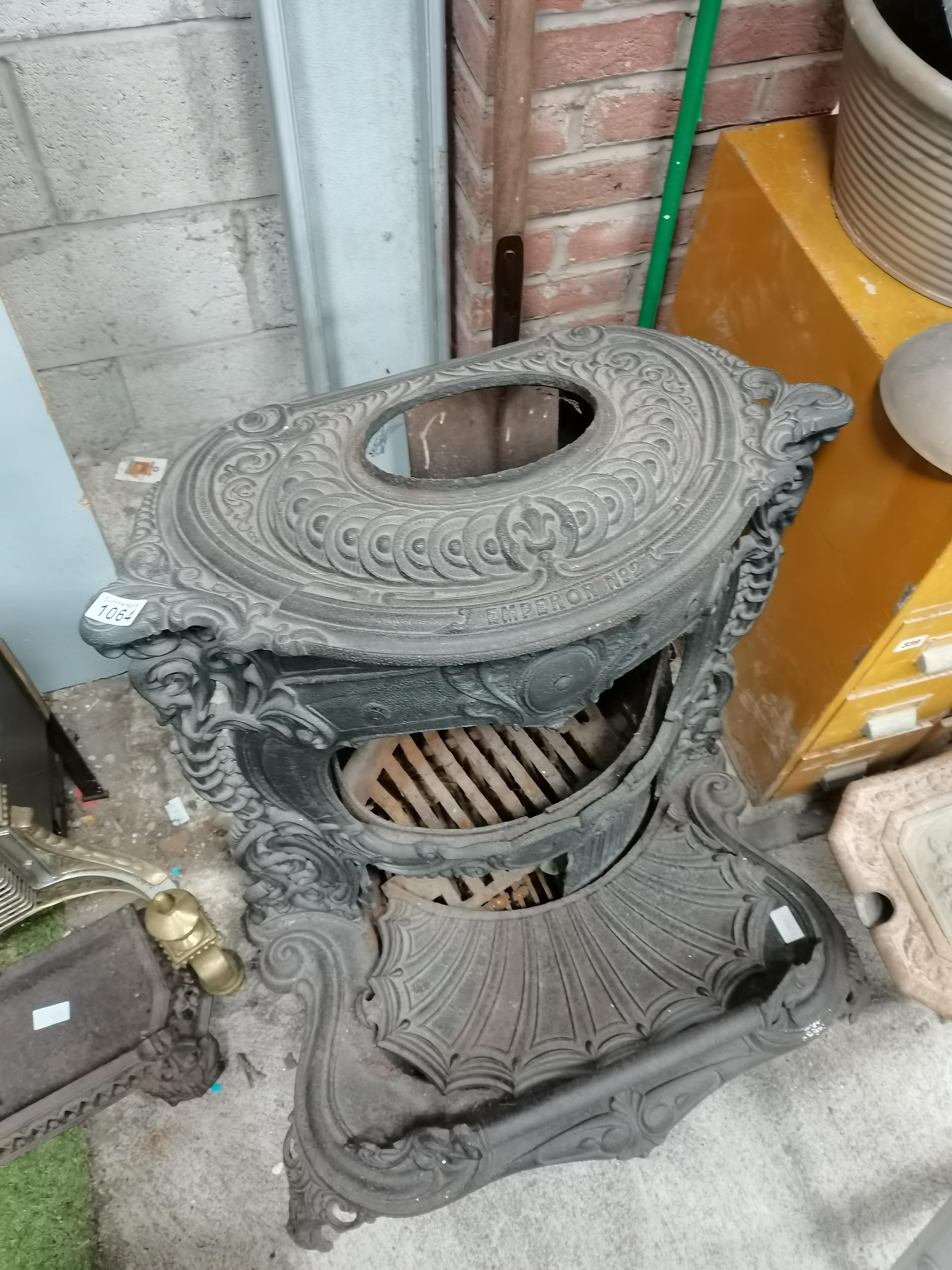 Cast iron fire plus fire - Image 2 of 3