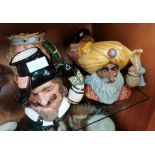 4 Royal Doulton Toby Jugs D6861 Guy Fawkes D6375 Dick Whittington D7055 Limited EditionKing Arthur
