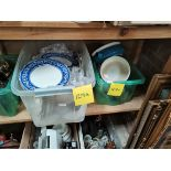 2 boxes misc china incl blue and white