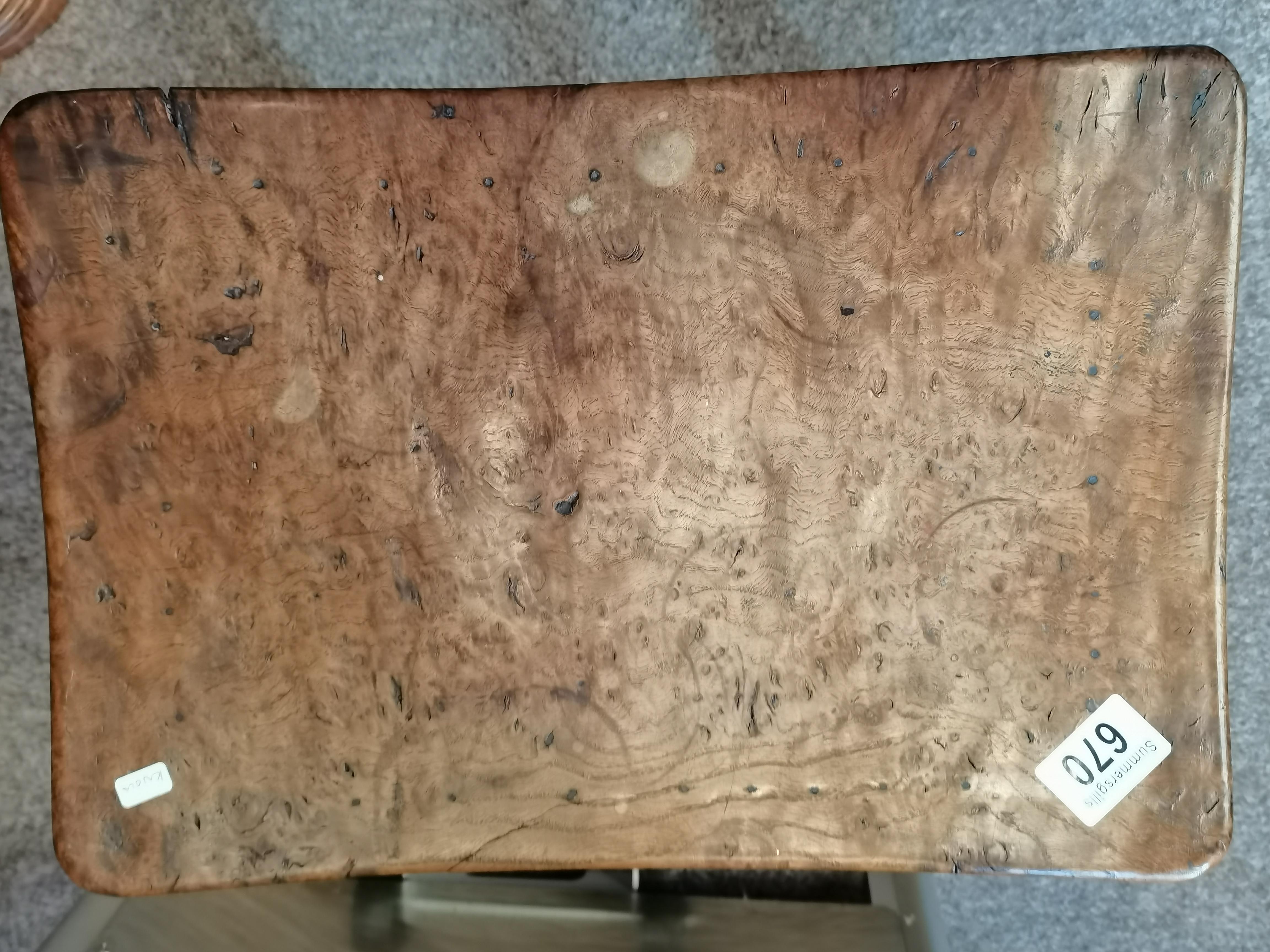 Early Mouseman burr oak stool - Image 9 of 9