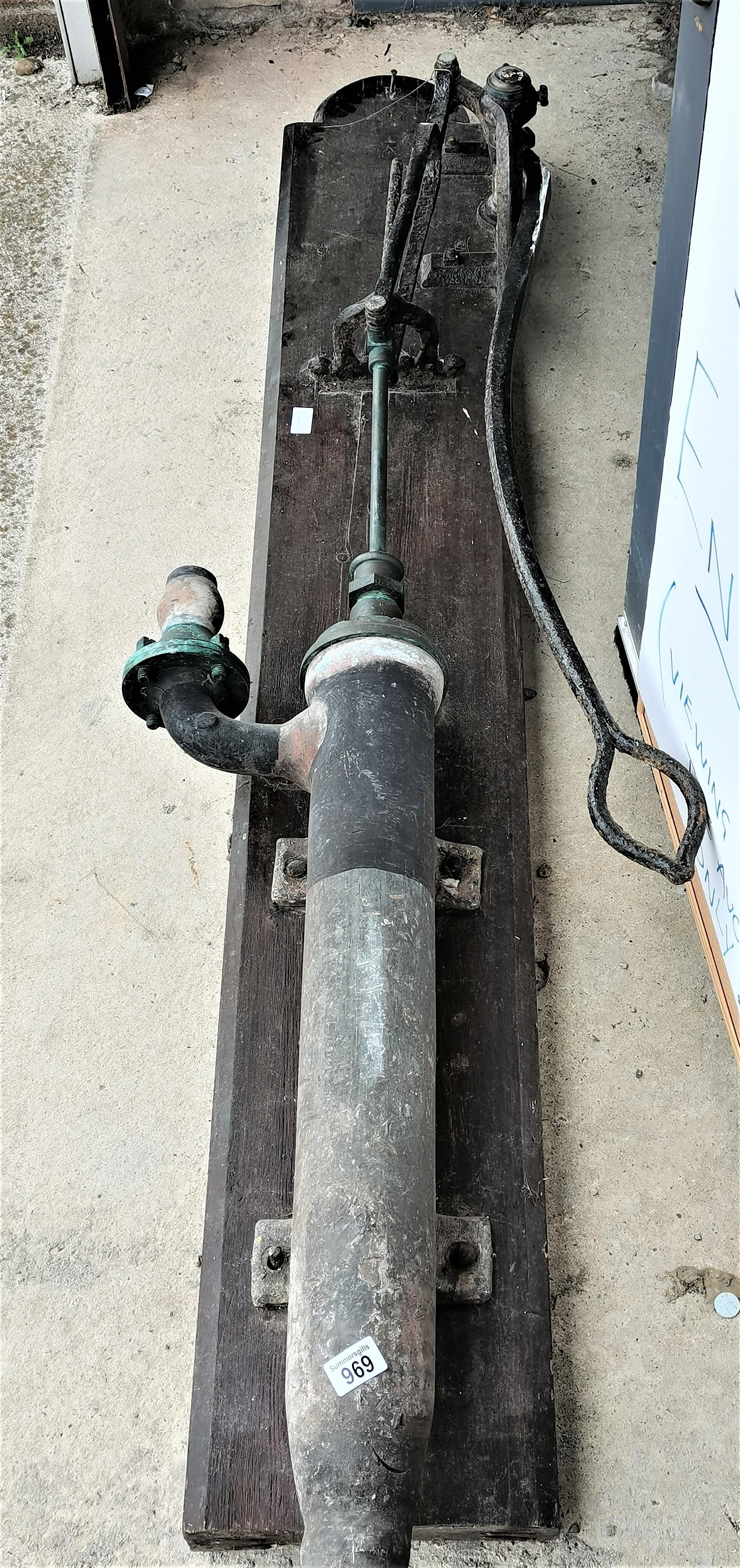 Antique large lead pump