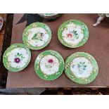 8 Plates and 3 Cake Stands Rockingham No 4726