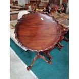 Mahogany pie crust edge table