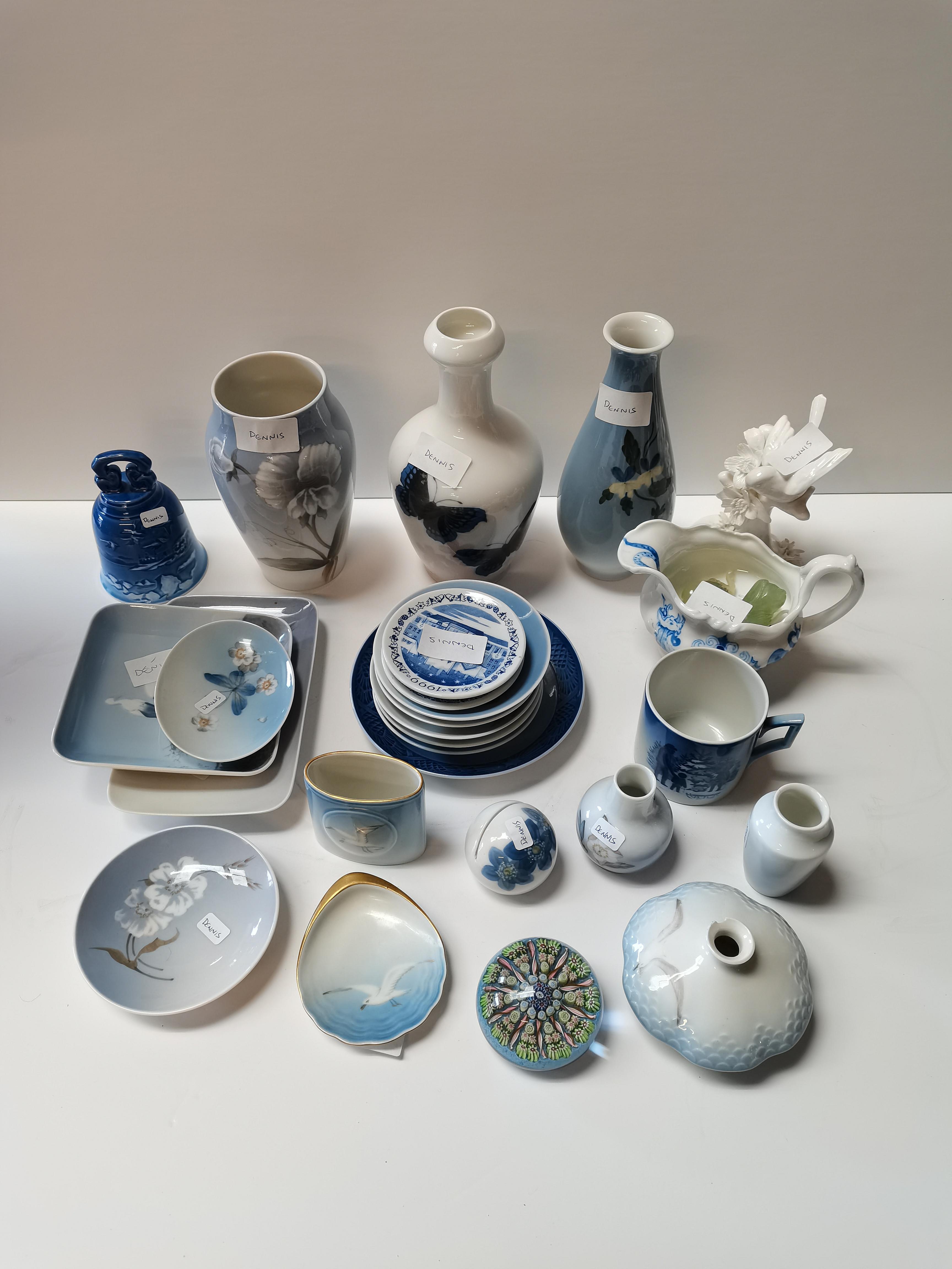 Collection of Royal copenhagen items