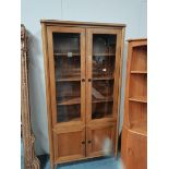 2m high Ercol style display cabinet