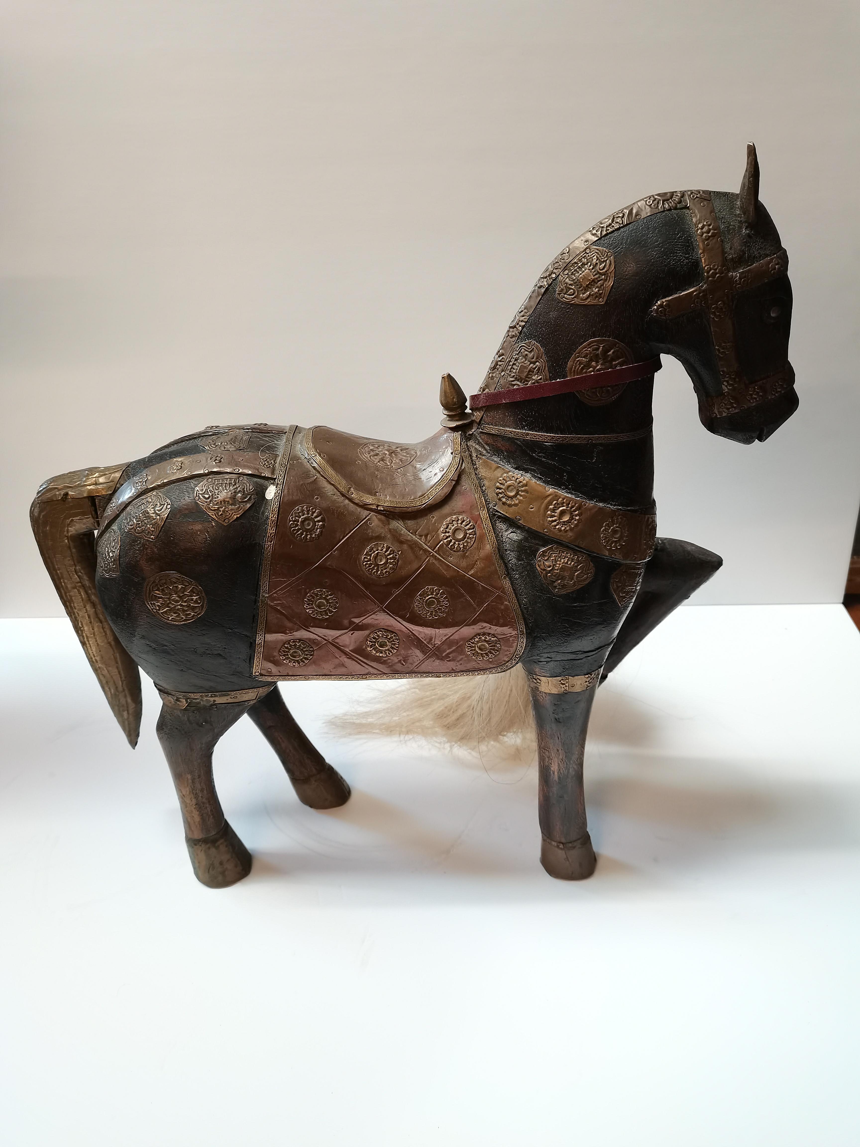 Eygptian style horse figure - Image 4 of 4