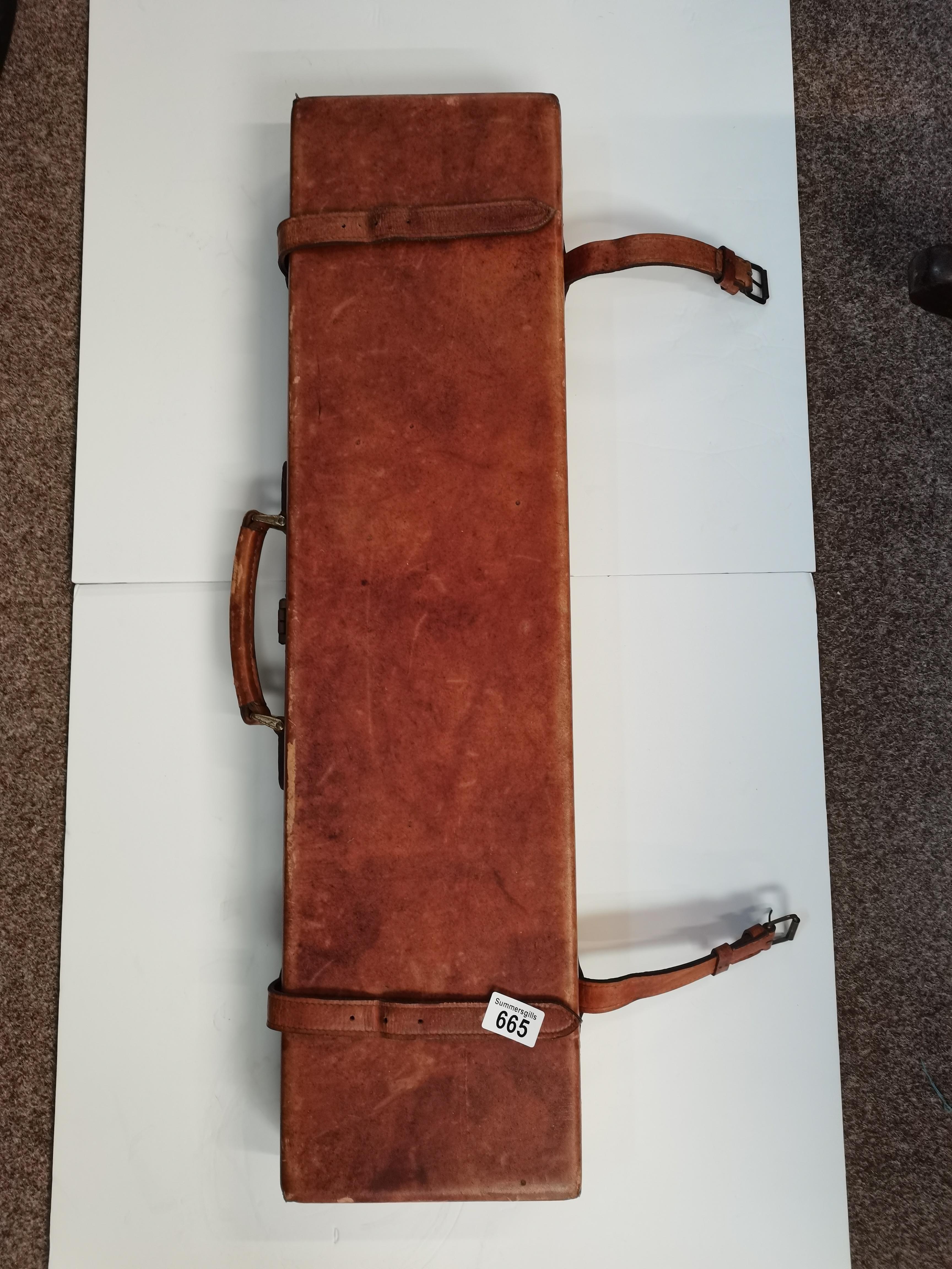 F Hall ltd Chestfield leather gun case