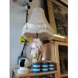 Moorcroft anenome cream large table lamp