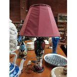 40cm Moorcroft lamp