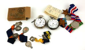 TWO VICTORIAN SILVER POCKET WATCHES To include Fattorini and Sons, open face and H. Samuel,