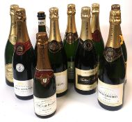 A COLLECTION OF EIGHT BOTTLES OF CHAMPAGNE Including two bottles of Louis Chaurey, Nicolas
