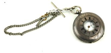 A 19TH CENTURY CONTINENTAL SILVER 'ARMY TIMEKEEPER' DEMI HUNTER POCKET WATCH Having an engraved