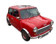A 1984 AUSTIN MINI Mileage: 37000, right hand drive, registration: A108 WOX, transmission: manual,