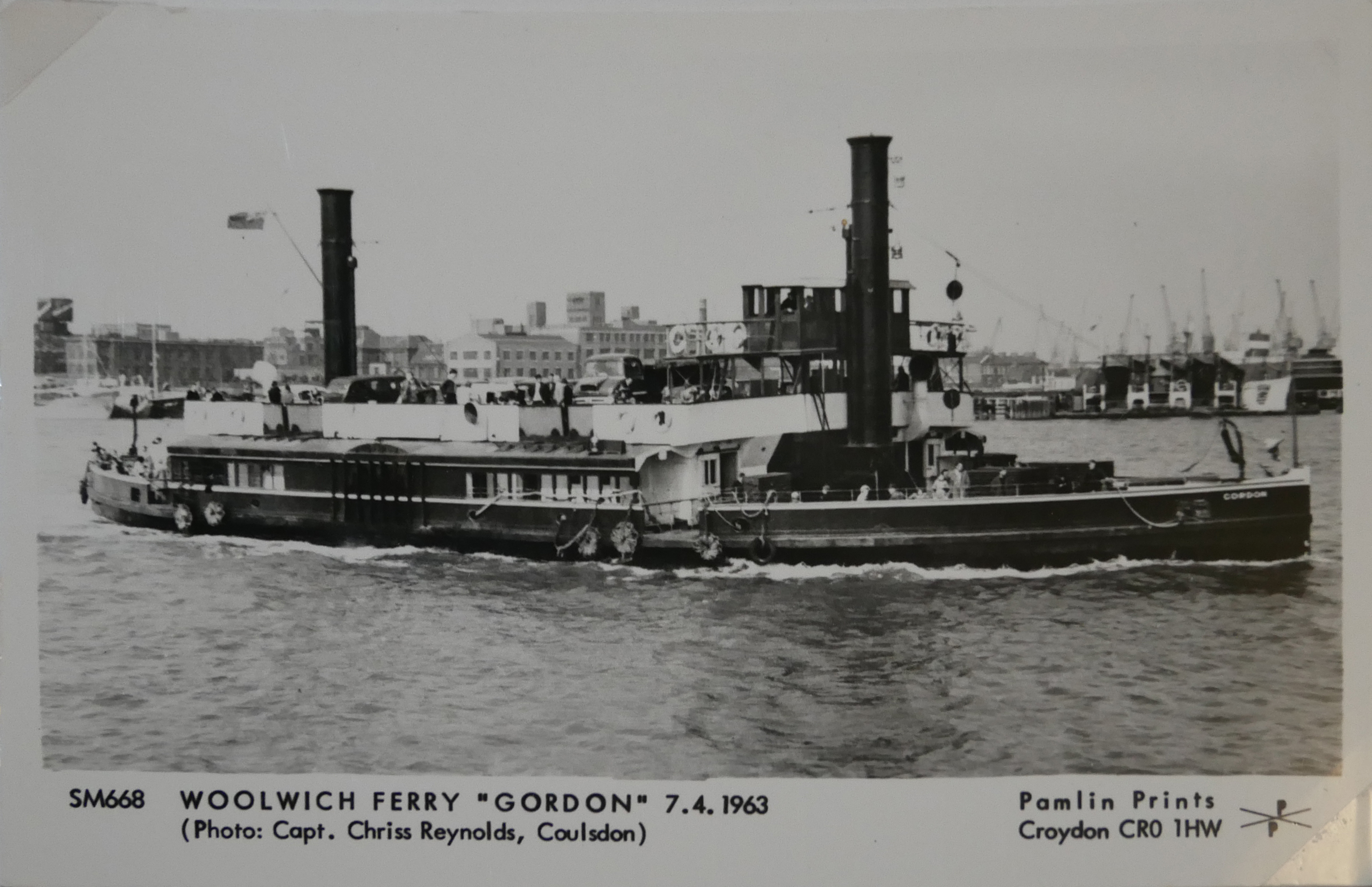 AN ALBUM OF BLACK AND WHITE PHOTOGRAPHIC POSTCARDS OF STEAM SHIPS Issued by Pamlin Prints, including - Image 8 of 10