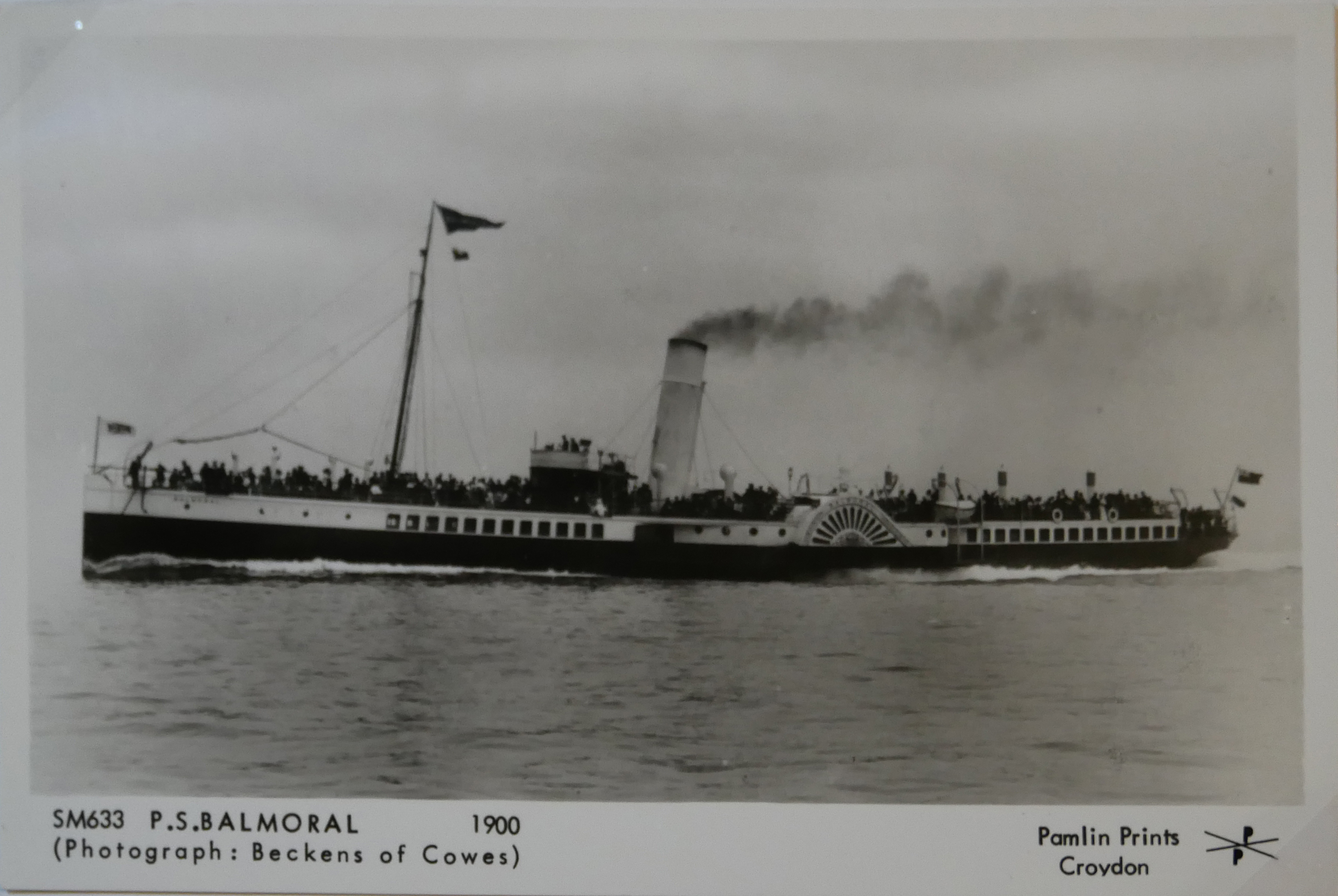 AN ALBUM OF BLACK AND WHITE PHOTOGRAPHIC POSTCARDS OF STEAM SHIPS Issued by Pamlin Prints, including - Image 3 of 10
