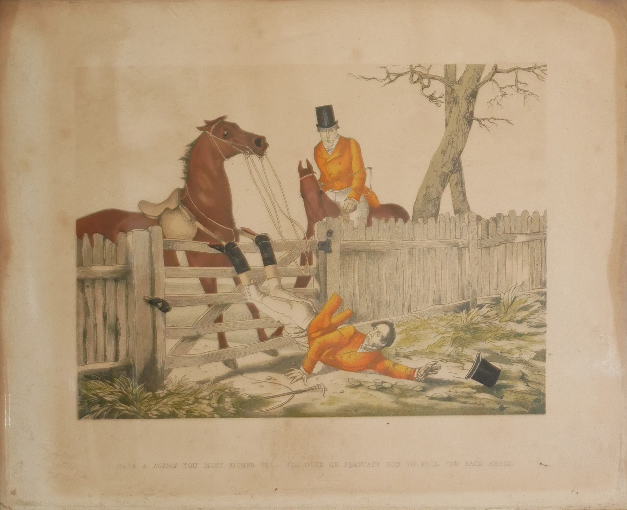 A COLLECTION OF SPORTING COLOURED ENGRAVINGS To include a scene Ben Marshall - notions series, - Image 5 of 7