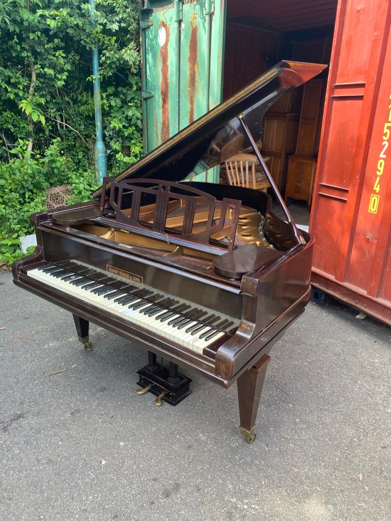 GEORGE RODGERS & SONS LONDON A mahogany cased baby grand piano