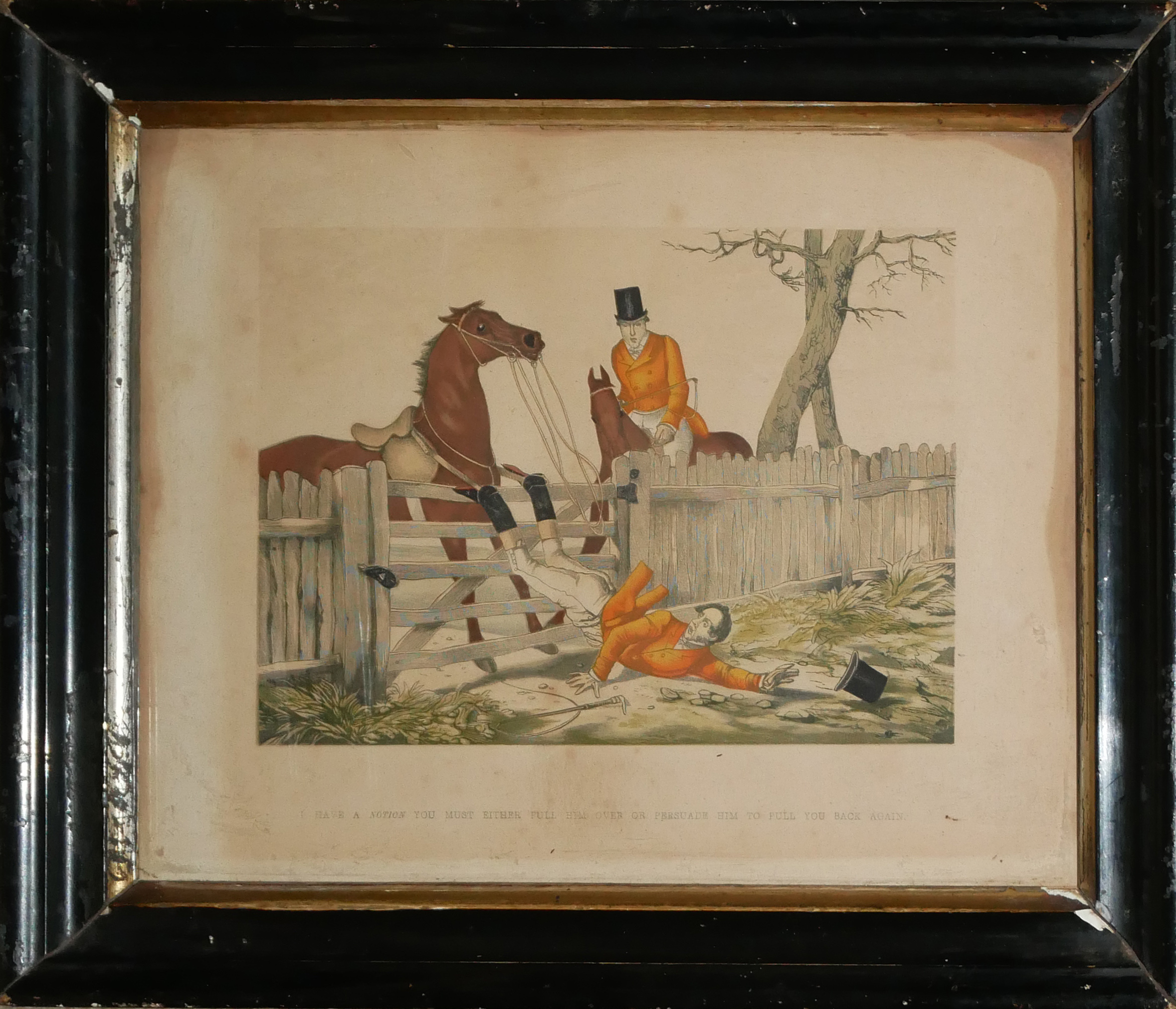 A COLLECTION OF SPORTING COLOURED ENGRAVINGS To include a scene Ben Marshall - notions series, - Image 6 of 7