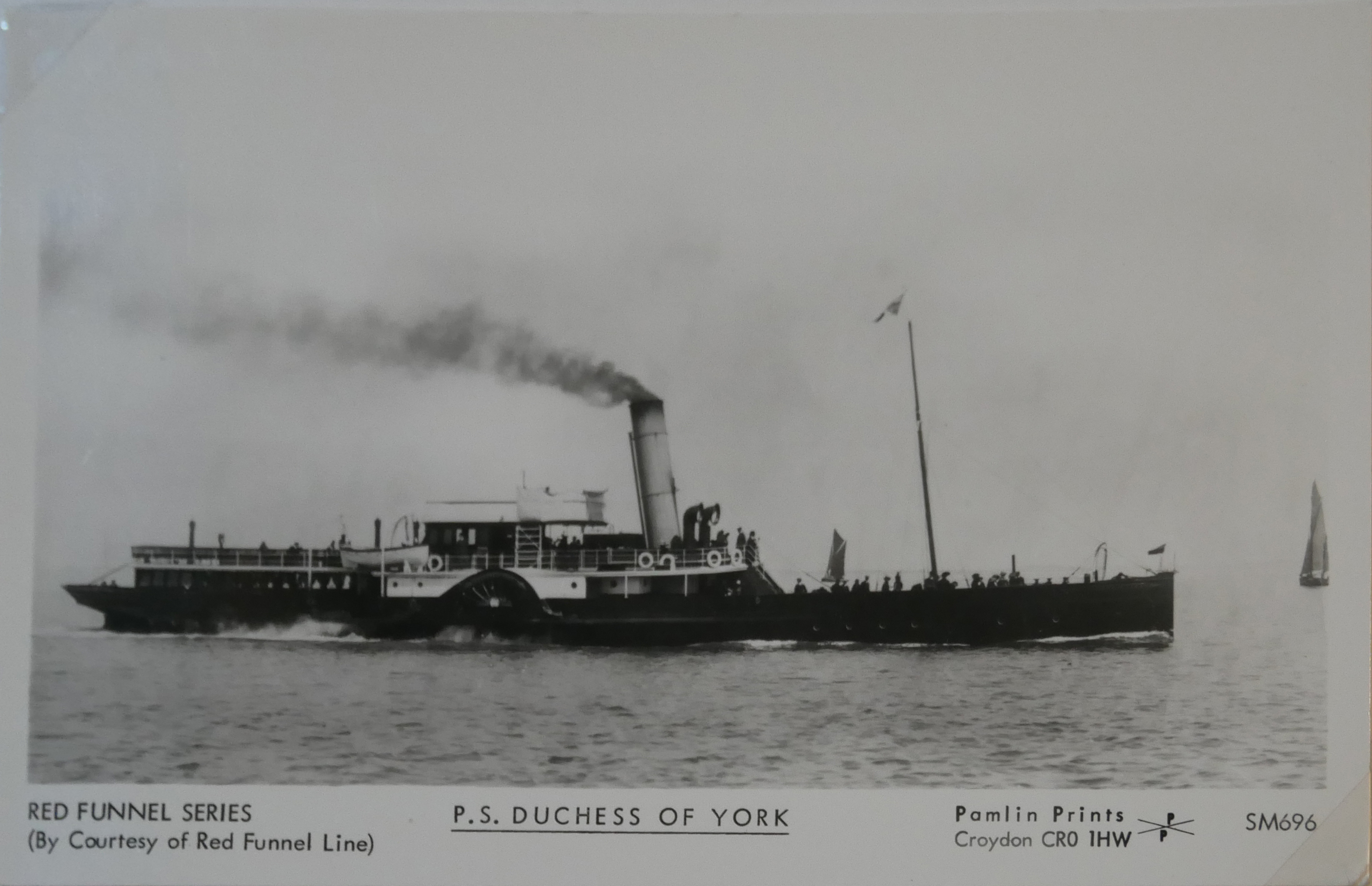 AN ALBUM OF BLACK AND WHITE PHOTOGRAPHIC POSTCARDS OF STEAM SHIPS Issued by Pamlin Prints, including - Image 4 of 10